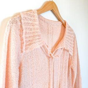 Vintage Sweaters - Vintage 50s Blush Pink Sweater